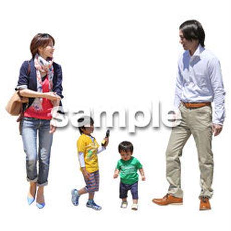 人物切抜き素材 ショッピングモール護編 T_076