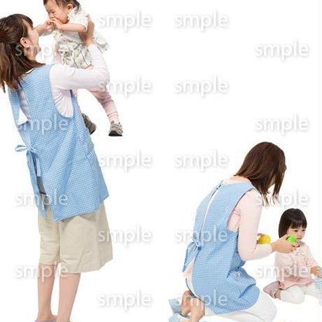 Cutout People 保育士と子供 GG_499