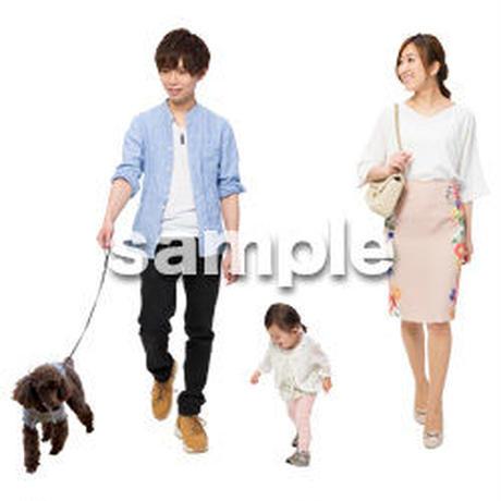 Cutout People 犬の散歩 II_451