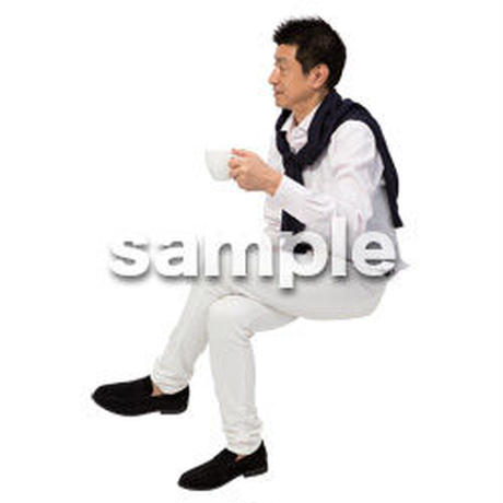 Cutout People 座る 男性 LL_337