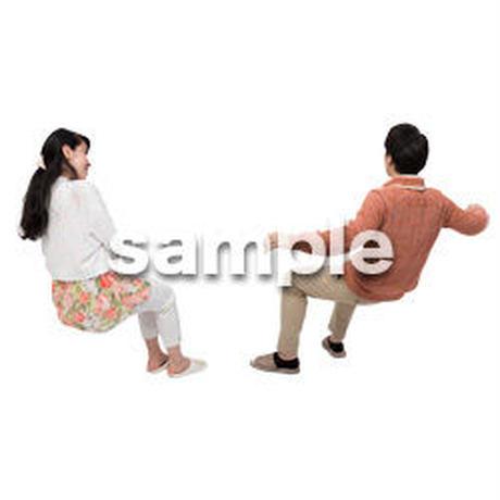 Cutout People アットホーム 座る II_409