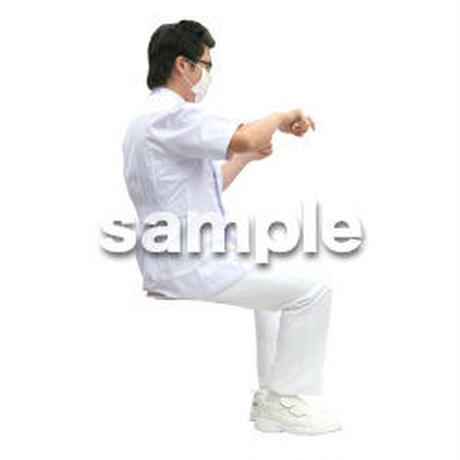 人物切抜き素材 医療・シニア車椅子編 D_021