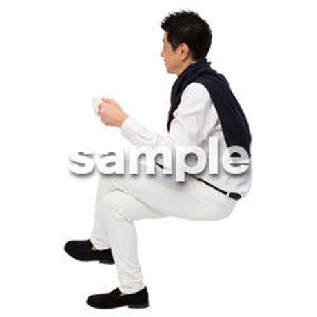 Cutout People 座る 男性 LL_338