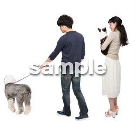 Cutout People 犬の散歩 II_479