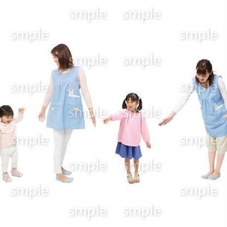 Cutout People 保育士と子供 GG_491