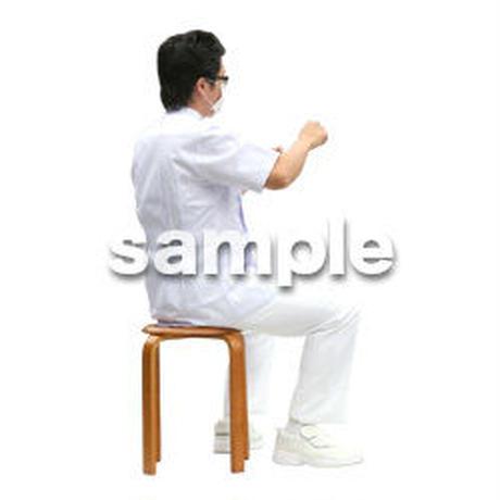 人物切抜き素材 医療・シニア車椅子編 D_022