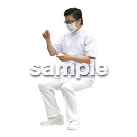 人物切抜き素材 医療・シニア車椅子編 D_017