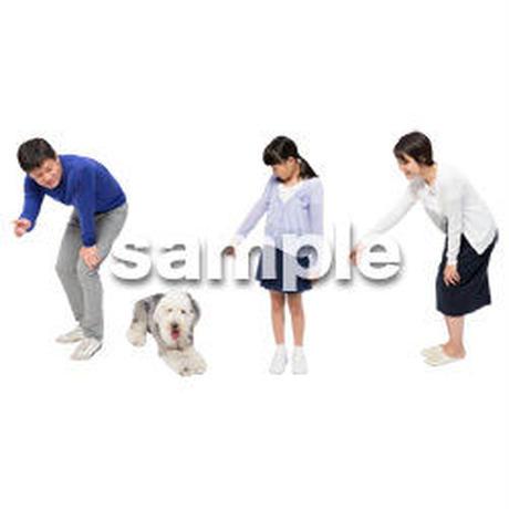 Cutout People 犬の散歩 II_492
