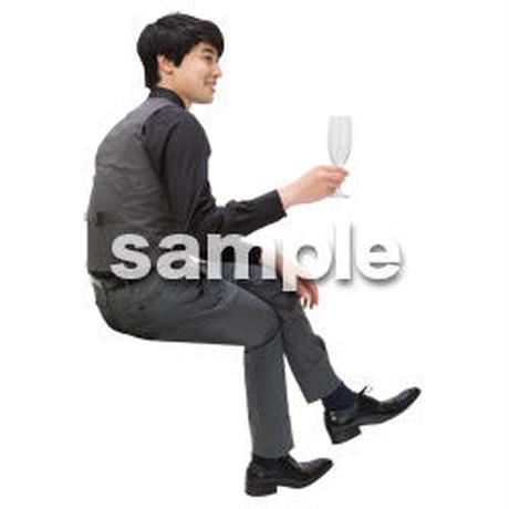 Cutout People パーティー座る人 DD_429