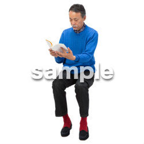 Cutout People 座る 男性 LL_517