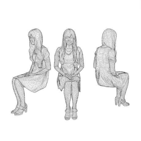 3D人物素材  [Posed]  073_Yui