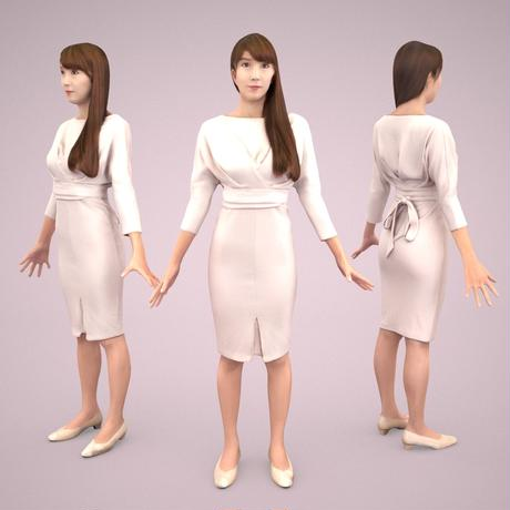 3D人モデルAポーズ 004_Rika