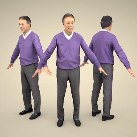 3D人モデルAポーズ 048_Ken