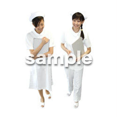 人物切抜き素材 医療・シニア車椅子編 D_136