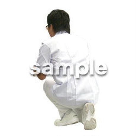 人物切抜き素材 医療・シニア車椅子編 D_030