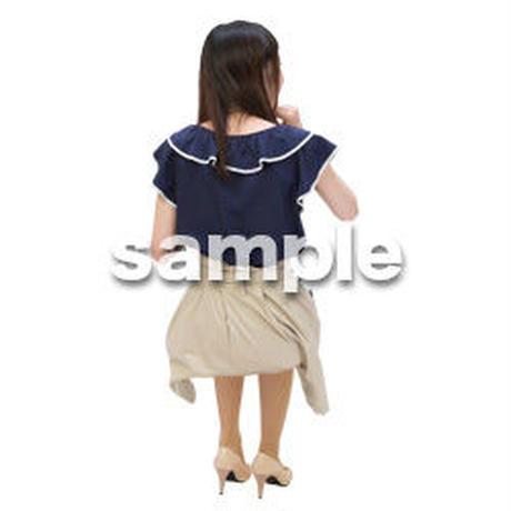 Cutout People 日本人-女性-座る BB_495