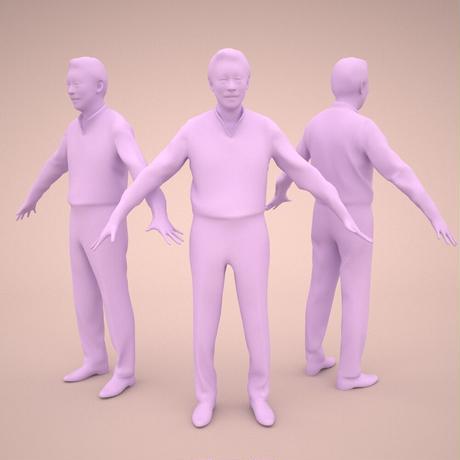 3D人モデルAポーズ 050_Ken