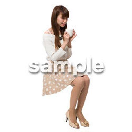 Cutout People 座る女性 KK_207