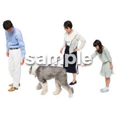 Cutout People 犬の散歩 II_463