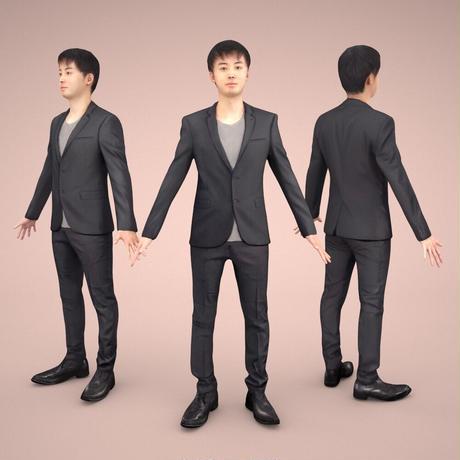3D人モデルAポーズ 106_Sots
