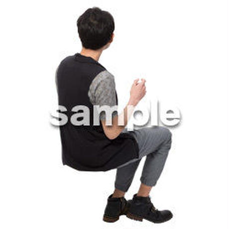 Cutout People 座る 男性 LL_475