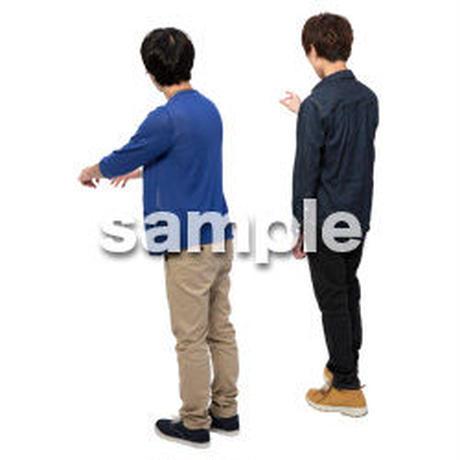 Cutout People 男性ペア JJ_424