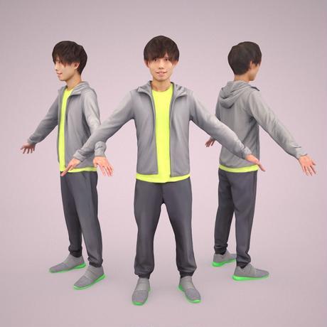 3D人モデルAポーズ 040_Toru
