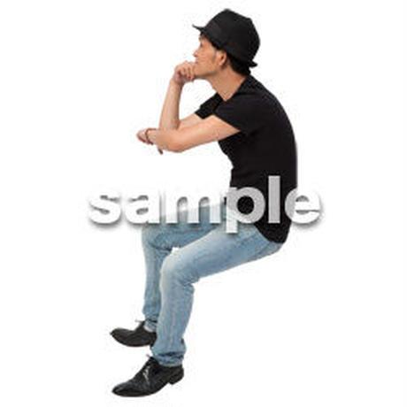 Cutout People 座る 男性 LL_484
