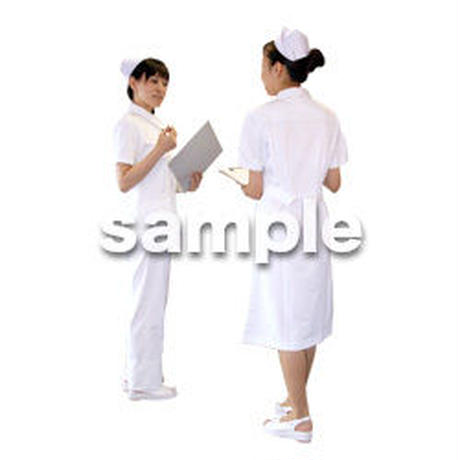 人物切抜き素材 医療・シニア車椅子編 D_129