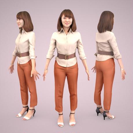 3D人モデルAポーズ 018_Kana