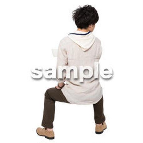 Cutout People 座る 男性 LL_365