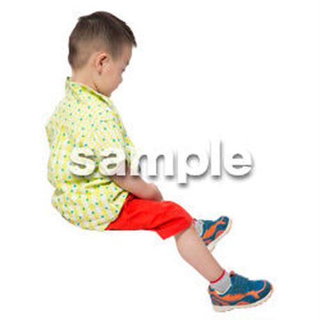 Cutout People 座る 男の子 LL_524