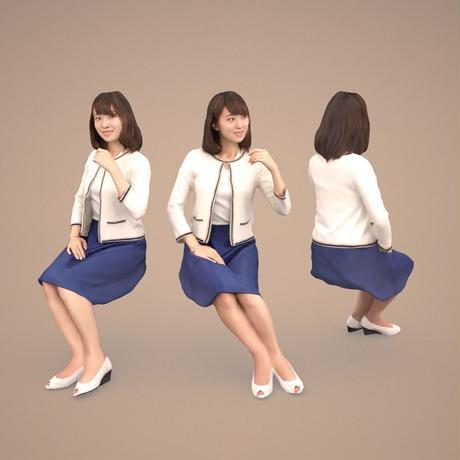 3D人物素材  [Posed]  015_Kana