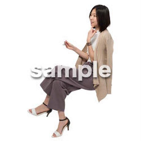 Cutout People 座る女性 KK_228