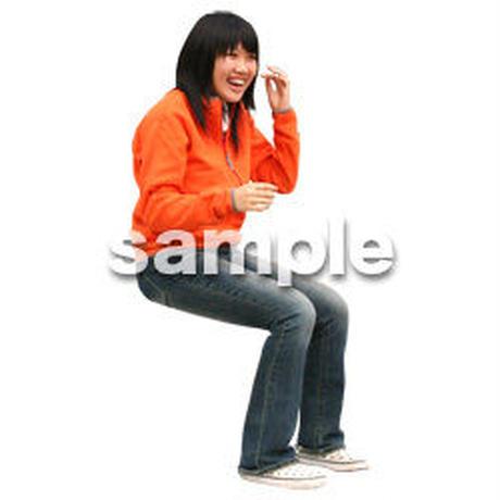 人物切抜き素材 座る人編 H_545