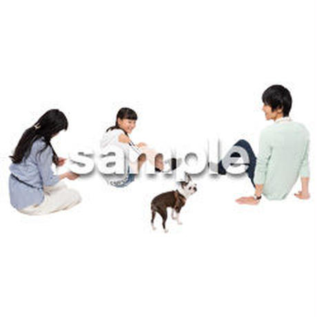 Cutout People 犬の散歩 II_499