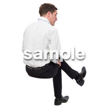Cutout People 座る 外国人男性 LL_584