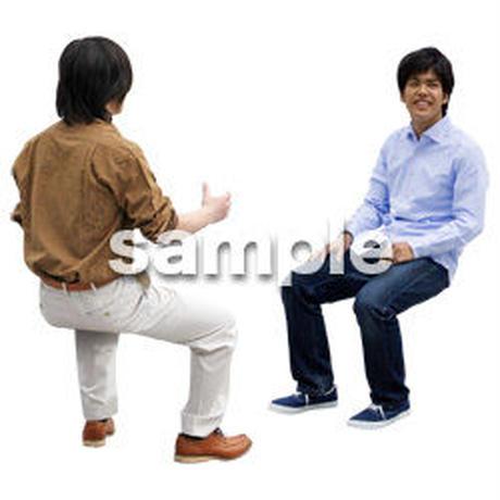 人物切抜き素材 座る人Ⅱ編 Q_068