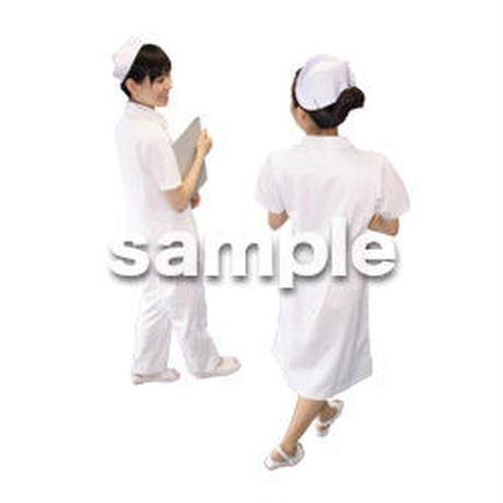 人物切抜き素材 医療・シニア車椅子編 D_138