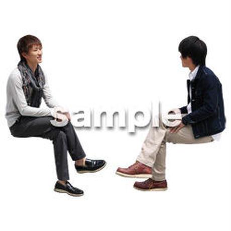 人物切抜き素材 座る人Ⅱ編 Q_080