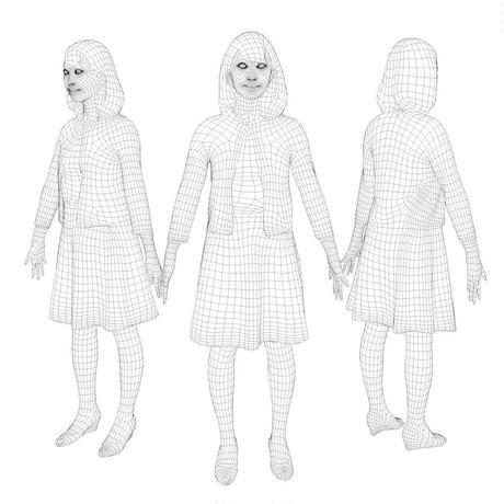 3D人モデルAポーズ 016_Kana
