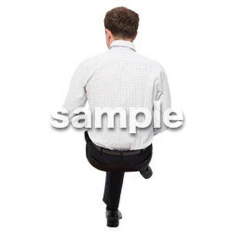 Cutout People 座る 外国人男性 LL_585