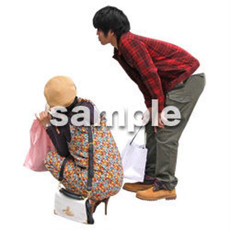 人物切抜き素材 レジャー・ショッピング編 L_107
