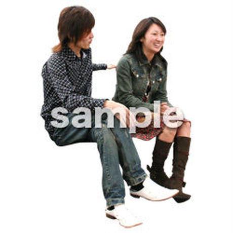 人物切抜き素材 座る人編 H_087