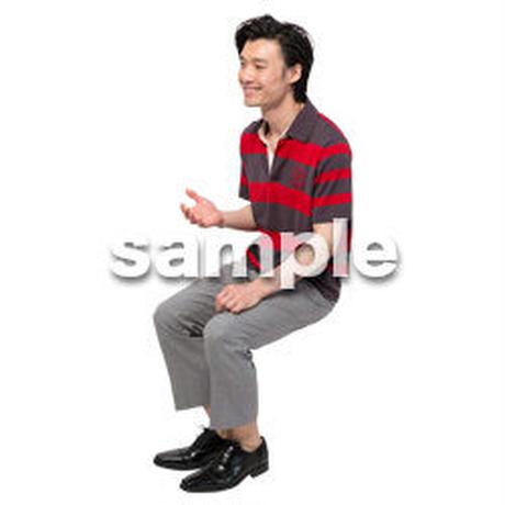 Cutout People 座る 男性 LL_492