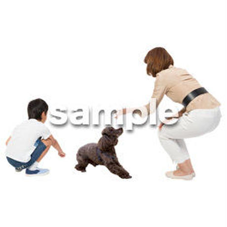 Cutout People 犬の散歩 II_484