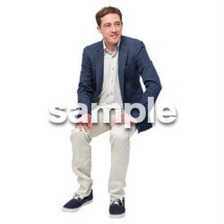 Cutout People 座る 外国人男性 LL_576