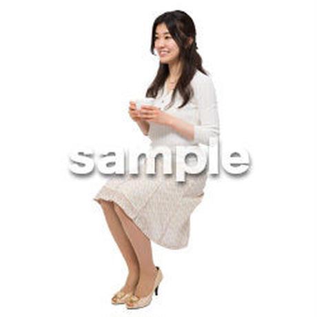 Cutout People 座る女性 KK_167