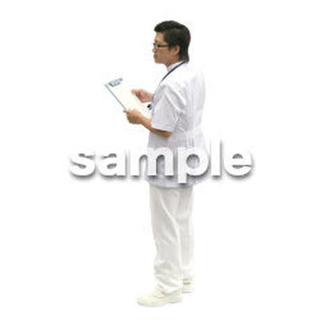人物切抜き素材 医療・シニア車椅子編 D_013
