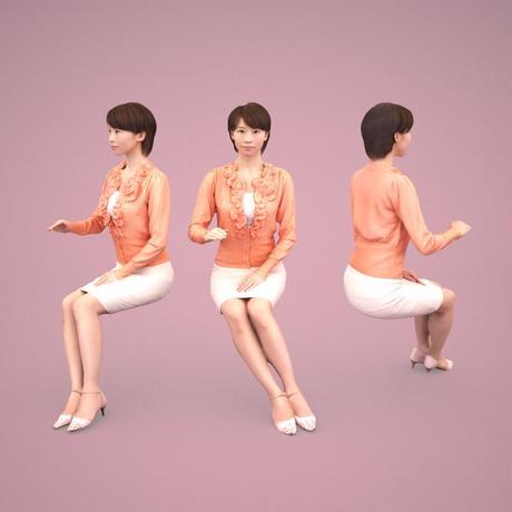 3D人物素材  [Posed]  029_Haru